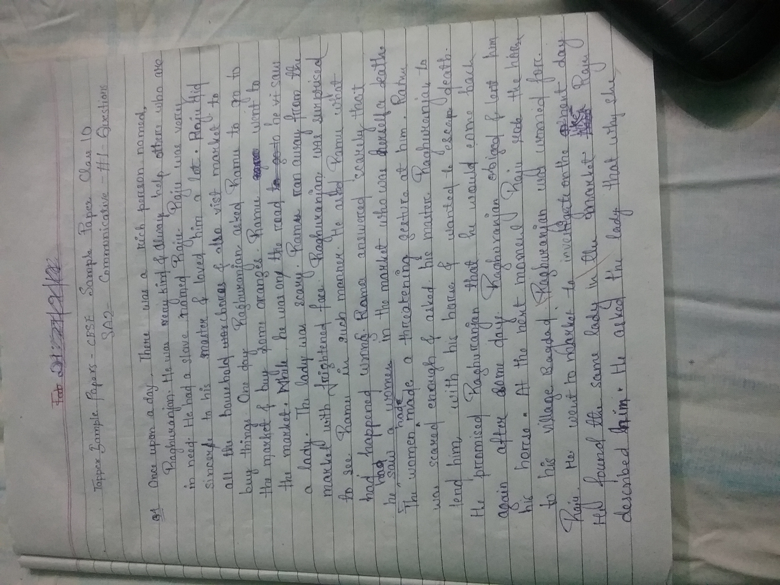 sample papers cbse sample paper class 10 sa 2 communicative