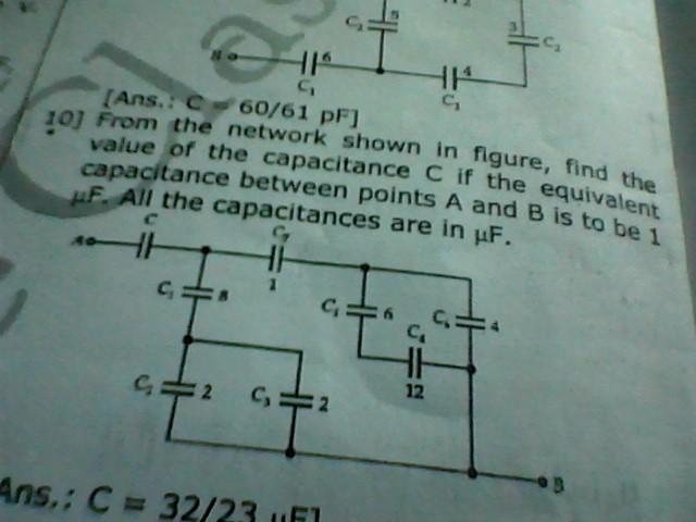 3capacitors of capacitances 2 microfarad 3 microfarad and 6