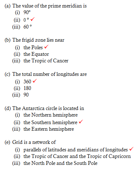 Chapter 2 Globe: Latitudes and Longitudes - NCERT Solutions
