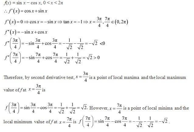 Rd-sharma Solutions Cbse Class 12-science Mathematics Chapter - Maxima And Minima