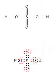 Lewis Dot Structure And Explanation Of H2so4 And Co Chemistry Topperlearning Com Dpr163cc