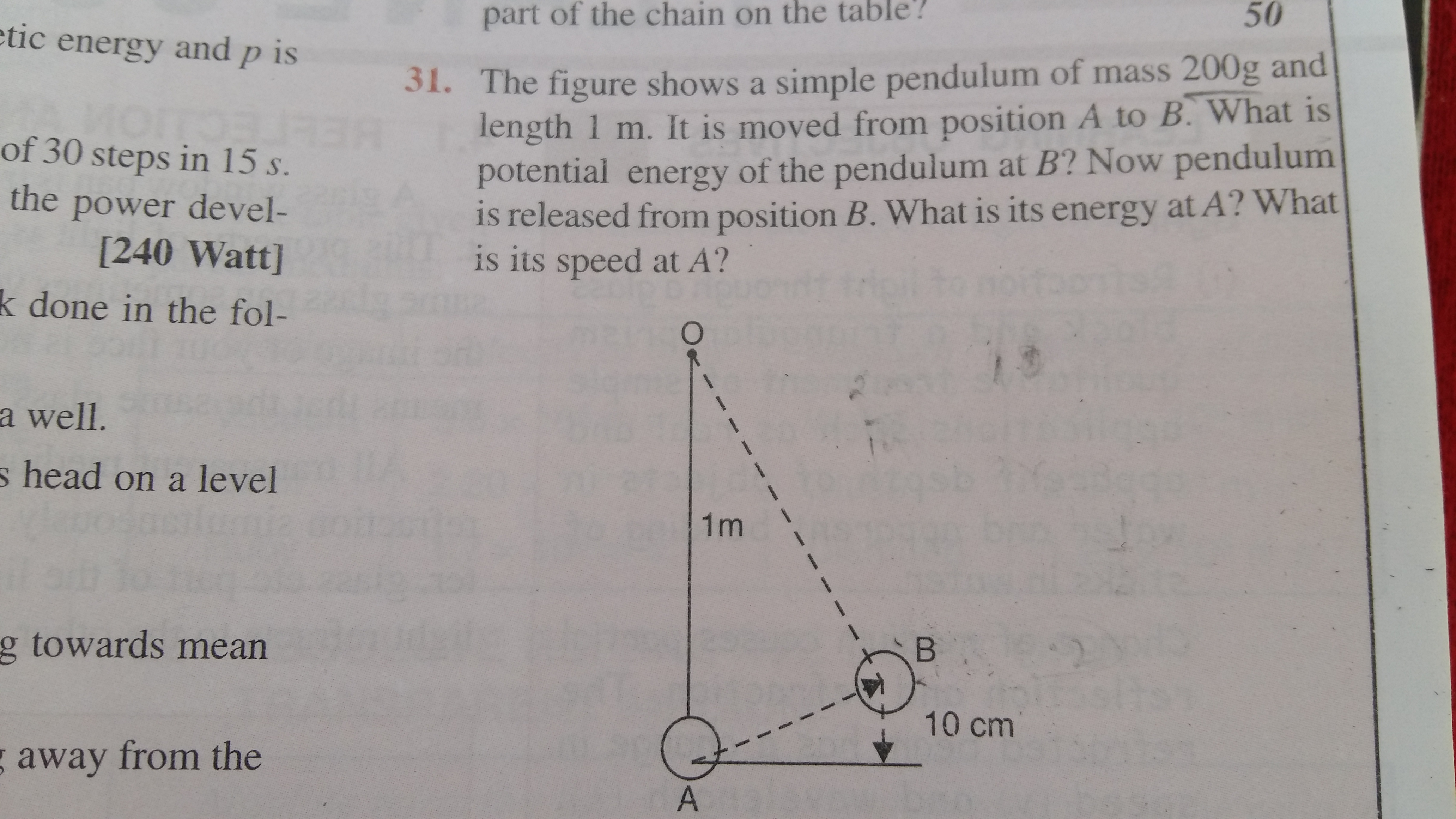 simple pendulum Questions and Answers - TopperLearning