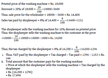 A Shopkeeper Bought A Washing Machine At A Discount Of 20 From A