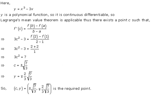 Rd-sharma Solutions Cbse Class 12-science Mathematics Chapter - Mean Value Theorems