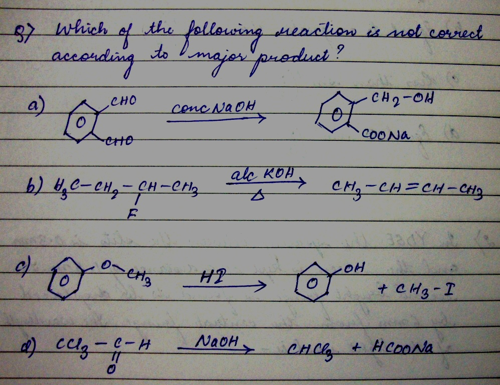 Questions and Answers of Alcohols Phenols And Ethers of CBSE class