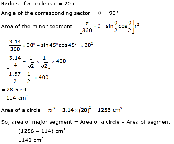 Rd-sharma Solutions Cbse Class 10 Mathematics Chapter - Areas Related To Circles