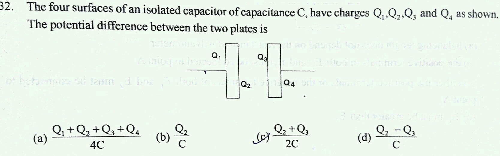 a parallel plate capacitor is charged by battery which is