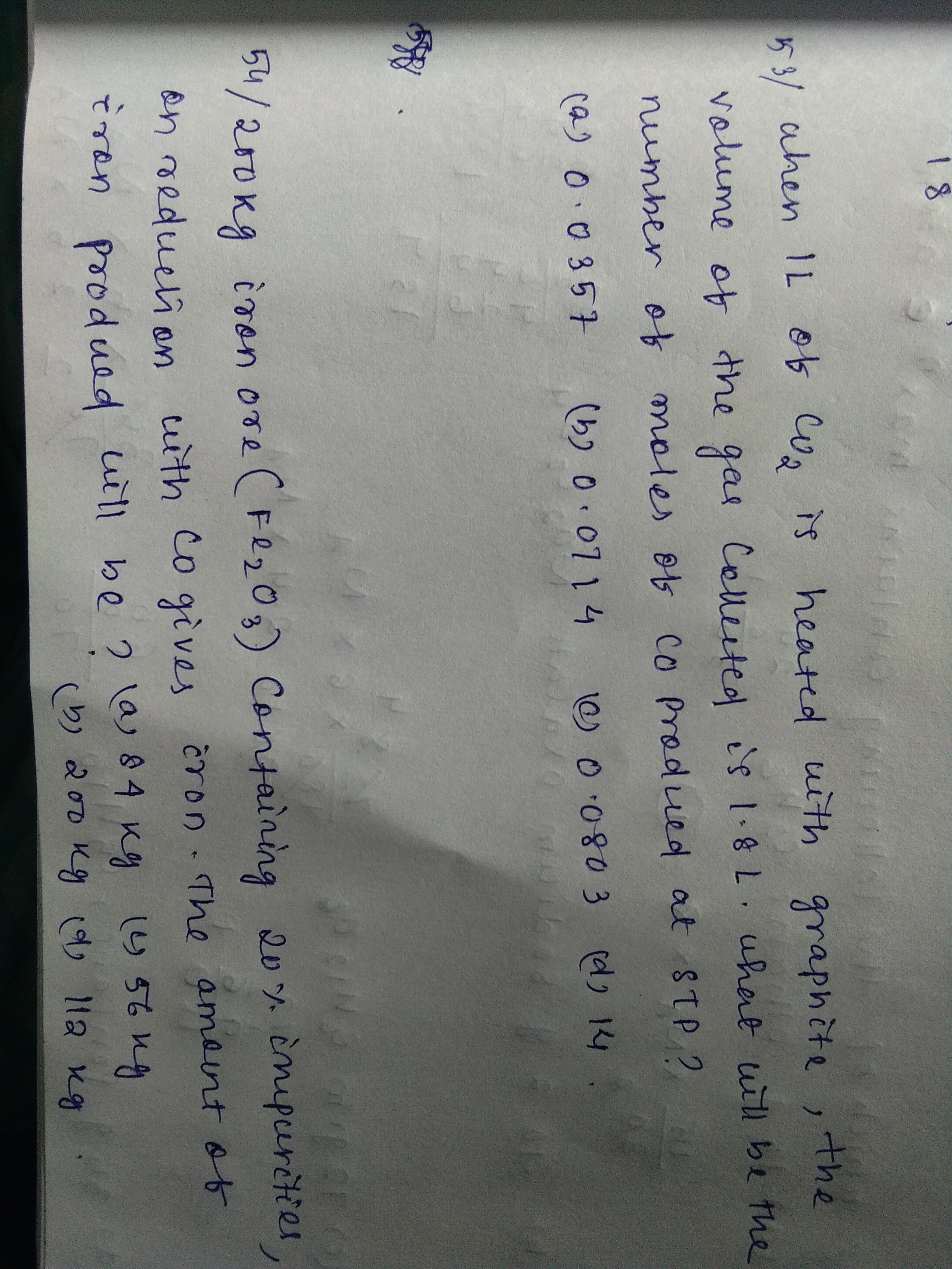 Questions And Answers Of Mole Concept And Stoichiometry Mole Concept