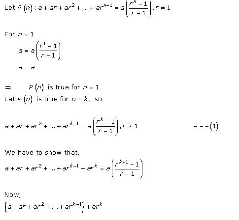 Rd-sharma Solutions Cbse Class 11-science Mathematics Chapter - Mathematical Induction