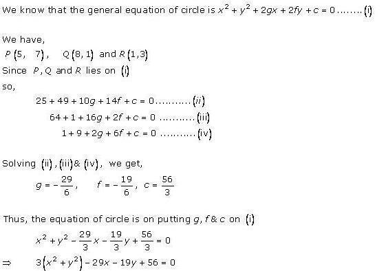 Rd-sharma Solutions Cbse Class 11-science Mathematics Chapter - The Circle