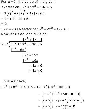 Selina Solutions Icse Class 10 Mathematics Chapter - Remainder And Factor Theorems