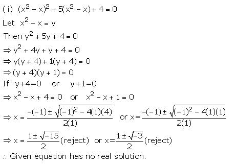 Selina Solutions Icse Class 10 Mathematics Chapter - Quadratic Equations