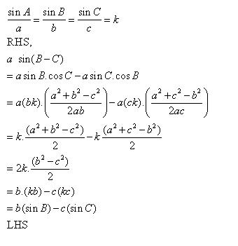 Rd-sharma Solutions Cbse Class 11-science Mathematics Chapter - Sine And Cosine Formulae And Their Applications