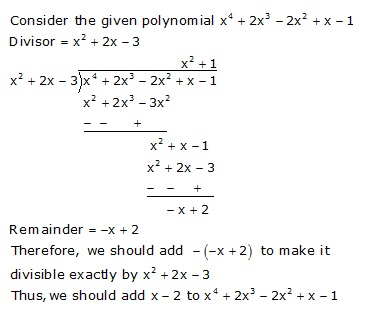 What Must Be Added To The Polynomial F X X4 2x3 2x2 X 1 So That The