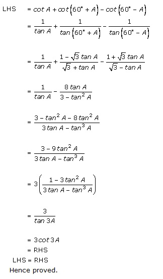 Rd-sharma Solutions Cbse Class 11-science Mathematics Chapter - Trigonometric Ratios Of Multiple And Submultiple Angles